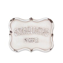 White Established Magnetic Metal Plaque By ArtMinds