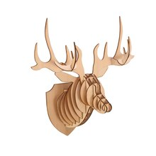 3D Wood Deer Head By Celebrate It