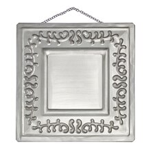 Ivy Embossed Metal Plaque By ArtMinds, Gray