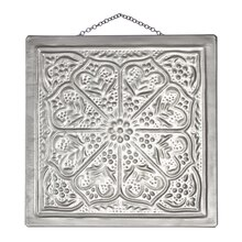 Floral Embossed Metal Plaque By ArtMinds, Gray