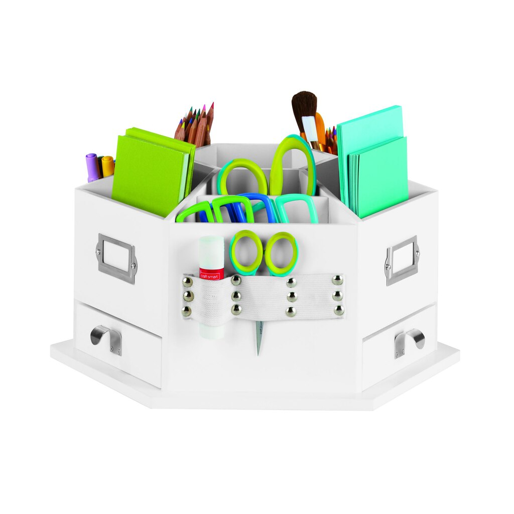 Recollections storage desktop carousel for Michaels craft storage cart