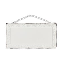 White Rectangular Stamp Metal Plaque By ArtMinds