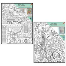 Time-Out Color-In Travel Coloring Prints with Frames