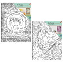 Time-Out Color-In Love Coloring Prints with Frames