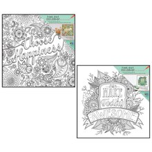 Time-Out Color-In Sentiment Coloring Prints with Frames