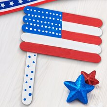 Kids Club® Craft Stick American Flag, medium