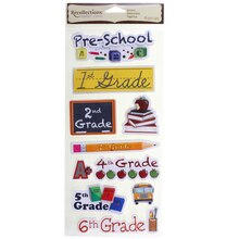 Signature Grammar School Chipboard Stickers By Recollections