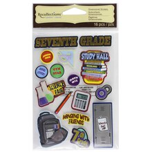 Signature Seventh Grade Dimensional Stickers by Recollections