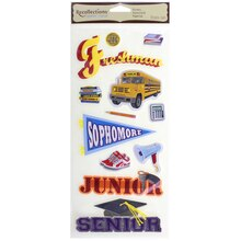 Signature High School Chipboard Stickers By Recollections