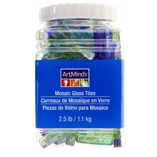 Ocean Mix Rectangle Mosaic Glass Tiles By ArtMinds