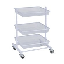 White 3-Tier Metal Mesh Basket Cart By Recollections Profile