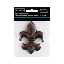 Galvanized Metal Fleur-de-Lis Embellishments By ArtMinds™, medium