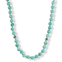 ELYA Turquoise Beaded Stainless Steel Necklace
