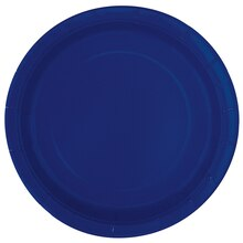 "9"" Navy Blue Party Plates, 8ct"