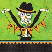 Day Of The Dead Halloween Luncheon Napkins, 16ct