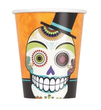 9oz Day Of The Dead Halloween Paper Cups, 8ct