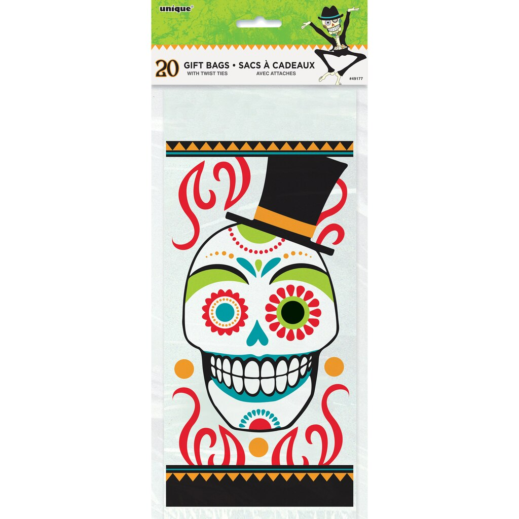 Day of the Dead Halloween Goodie Bags | Day of the Dead Halloween ...