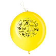 Latex Emoji Punch Balloons, 2ct