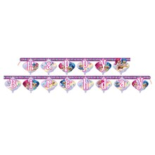 Shimmer And Shine Birthday Banner, 6 Ft., Stacked