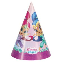 Shimmer And Shine Party Hats, 8ct