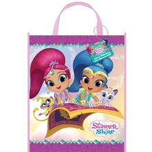 "Large Plastic Shimmer And Shine Favor Bag, 13"" x 11"""
