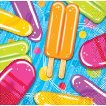 Popsicle & Ice Cream Summer Party Beverage Napkins, 16ct