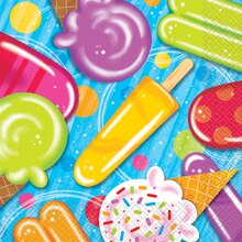 Popsicle & Ice Cream Summer Party Luncheon Napkins, 16ct