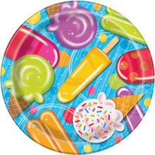 "9"" Popsicle & Ice Cream Summer Party Plates, 8ct"