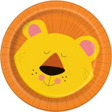 "7"" Animal Safari Party Plates, 8ct"