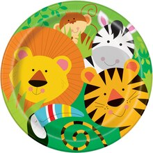 "9"" Animal Safari Party Plates, 8ct"