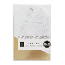 We R Memory Keepers Typecast Tags, Gold