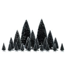 Lemax Assorted Pine Trees, Set of 21