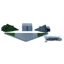 Lemax Plaza System Grey, Triangle Grass, 24 Pcs