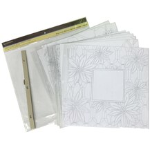 """Scrapbook Album Coloring Refills By Recollections, 12"""" x 12"""""""