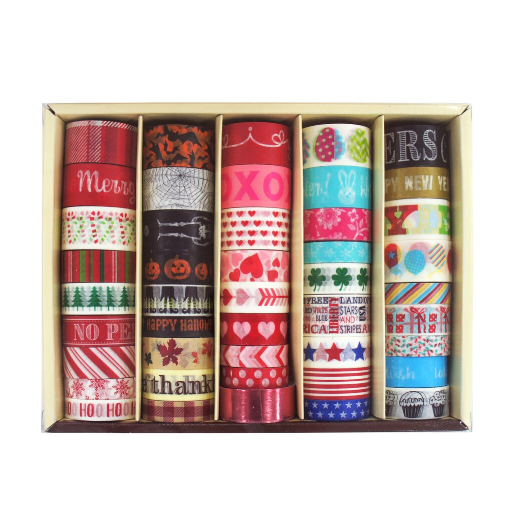 buy the seasonal washi tape box by recollections at michaels. Black Bedroom Furniture Sets. Home Design Ideas