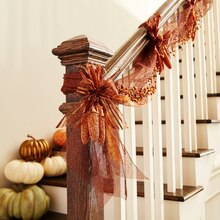 Fall Mesh Banister Swag, medium
