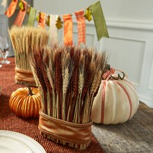 Fall Ribbon Pumpkins, medium
