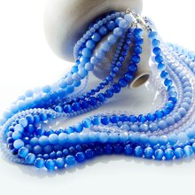 Blue Multi-Strand Necklace, medium