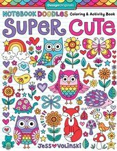 Notebook Doodles Coloring Activity Book Super Cute