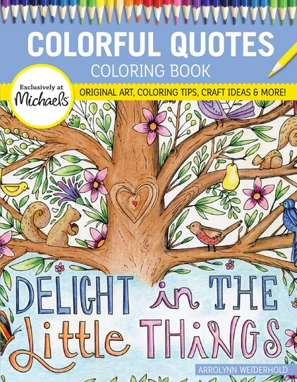 colorful quotes coloring book - Michaels Coloring Books