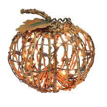 Small Lighted Grapevine Pumpkin By Celebrate It