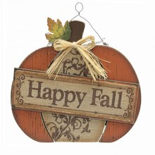 Happy Fall Burlap Pumpkin By Ashland
