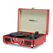 Funkyfonic Red Briefcase Turntable