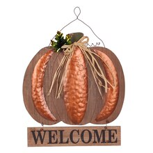 Copper Welcome Pumpkin By Ashland