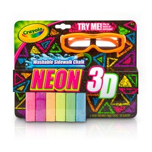 Crayola 3D Washable Sidewalk Chalks, Neon