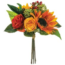"""12"""" Sunflower and Rose Bouquet"""