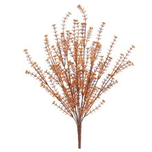 "20"" Mini Flower Bush with Buds, Orange"
