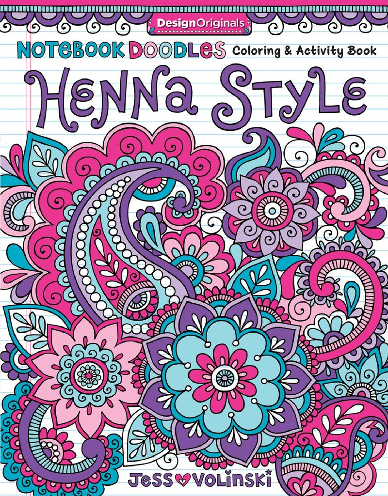Notebook Doodles Henna Style Coloring Book