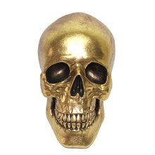 Gold Resin Skull By Ashland