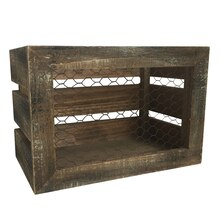 Crate Box with Chicken Wire By Ashland Inside